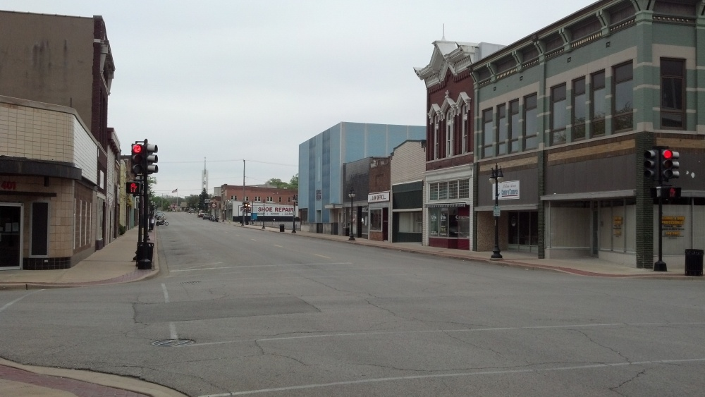 Downtown Pekin on a Saturday afternoon.