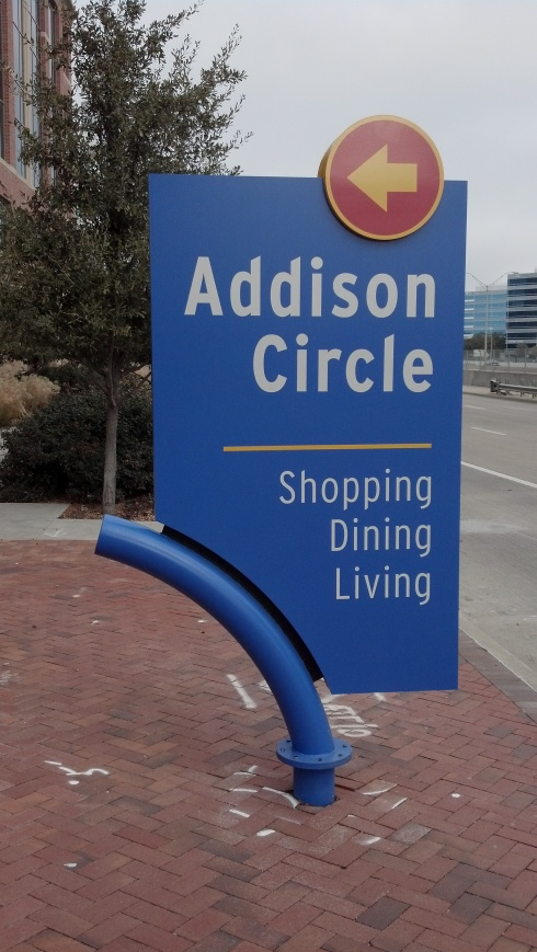Addison Circle Sign