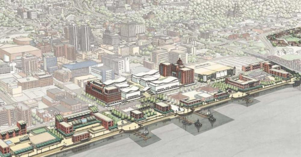 Heart of Peoria Plan: Riverfront Sketch