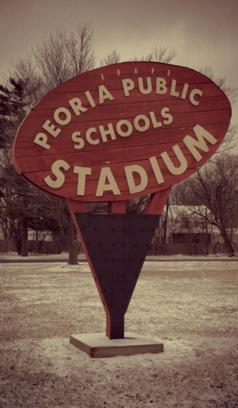 Peoria Public Stadium Sign