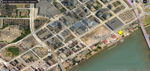 Peoria Riverfront Map